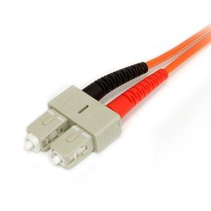 StarTech.com 2m Fiber Optic Cable - Multimode Duplex 62.5/125 - LSZH - LC/SC - OM1 - LC to SC Fiber Patch Cable - First En