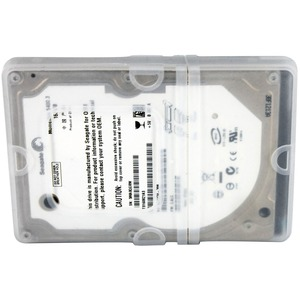 StarTech.com 2.5in Silicone Laptop Hard Drive Protector Sleeve with Connector Cap - Hard drive protective sleeve - clear