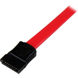 StarTech.com Cable SATA Serial ATA 45cm Acodado en Ángulo Recto a la Izquierda - 18 Pulgadas - Rojo - Extremo prinicpal: 1
