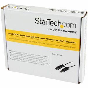 StarTech.com Cavo switch per mouse e tastiera 2 porte USB con trasferimento di file per PC e Mac® - Estremità 1: 1 x Tipo