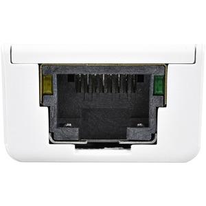 Adaptador Tarjeta de Red Externa NIC USB 3.0 a 1 Puerto Gigabit Ethernet 1Gbps RJ45 USBA Blanco StarTech.com USB31000SW