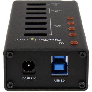 StarTech.com 4 Port USB 3.0 Hub - 3 Dedicated USB Charging Ports (2 x 1A & 1 x 2A) - Wall Mountable - Metal -Powered USB H