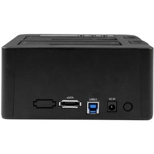 "StarTech.com Dual Bay USB 3.0/ eSATA Hard Drive Duplicator Dock for 2.5"" & 3.5"" SATA SSD HDD with UASP (6Gbps) - Standalon"