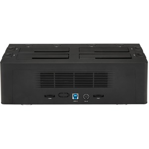 StarTech.com USB 3.0 to 4-Bay SATA 6Gbps Hard Drive Docking Station w/ UASP & Dual Fans - 2.5/3.5in SSD / HDD Dock - 4 x H