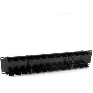 StarTech.com 2U Double-Sided Horizontal Cable Management Panel with Finger Duct & D-Ring Hooks - Rack Cable Organizer / Ma