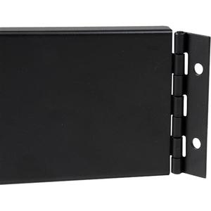 StarTech.com 2U Hinged Solid Blank Rack Panel - Steel - Black - 2U Rack Height - 1 Pack - 88.9 mm Height - 482.6 mm Width