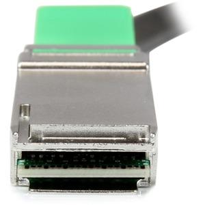 StarTech.com Cable de 2m QSFP+ Direct-Attach Twinax MSA - 40 GbE - Extremo prinicpal: 1 x QSFP+ Macho Red - Extremo Secund