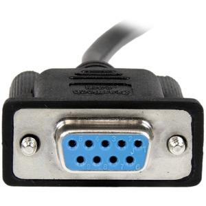 StarTech.com 2m Black DB9 RS232 Serial Null Modem Cable F/F - First End: 1 x DB-9 Female Serial - Second End: 1 x DB-9 Fem