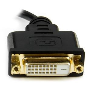 StarTech.com Mini HDMI to DVI-D Adapter M/F - 8in - First End: 1 x Mini HDMI Male Digital Audio/Video - Second End: 1 x DV
