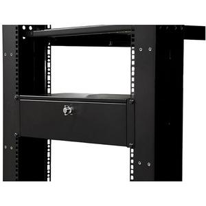 Cabina de bastidor StarTech.com 3U Montaje en bastidor - Negro - Conforme con normas TAA - 23 kg Capacidad de peso máx.