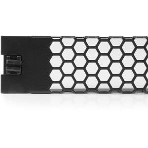 StarTech.com Blanking Panel - 1U - Vented - 48cm - Tool-less - Steel - Black - TAA Compliant - Blank Rack Panel - Filler P