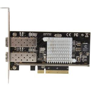 StarTech.com 10G Network Card - 2x 10G Open SFP+ Multimode LC Fiber Connector - Intel 82599 Chip - Gigabit Ethernet Card -