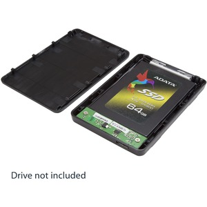 StarTech.com Drive Enclosure SATA/600 - USB 3.0 Micro-B Host Interface - UASP Support External - Black - 1 x HDD Supported