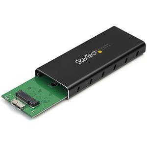 StarTech.com Box esterno SATA M.2 NGFF - USB 3.1 (10Gbps) con cavo USB-C - 1 x SSD supportato - Alluminio