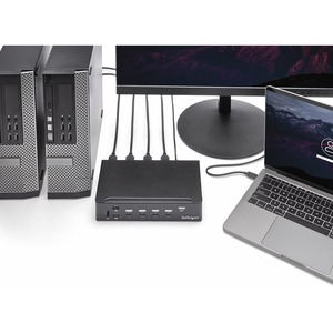 StarTech.com Switch Conmutador KVM de 4 Puertos HDMI 1080p con USB 3.0 - 4 Ordenador(es) - 1 Usuarios locales - 1920 x 108
