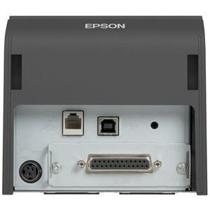 Epson TM-T70II Desktop Direct Thermal Printer - Monochrome - Receipt Print - Ethernet - USB - Dark Grey - 250 mm/s Mono -