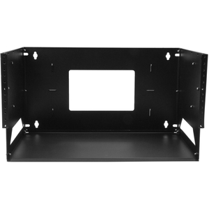 StarTech.com 4U Wall-Mount Server Rack with Built-in Shelf - Solid Steel - Adjustable Depth 30,5cm to 18in - 34.11 kg Maxi