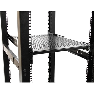"2U Sliding Server Rack Mount Shelf - Adjustable Mounting Depth - Vented - 50lb - Heavy Duty Universal 19"" Rack Shelf for E"