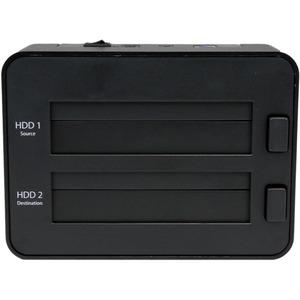 "Dual Bay USB 3.0 Duplicator and Eraser Dock for 2.5"" & 3.5"" SATA SSD HDD - 1:1 Standalone Cloner & Wiper Docking Station ("