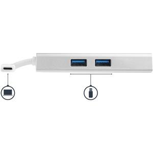StarTech.com Adaptador USB-C Multifunción para Ordenadores Portátiles - con Entrega de Potencia - 4K HDMI - USB 3.0 - Blan