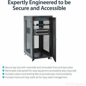 StarTech.com Server Rack Cabinet - 24U - 79cm 31in. Deep Enclosure - Network Cabinet - Rack Enclosure Server Cabinet - Dat