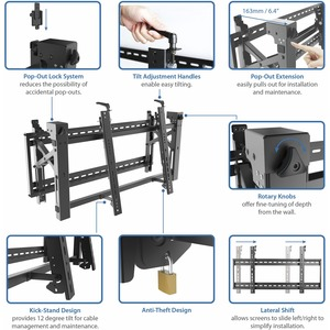 "StarTech.com Video Wall Mount - for 45"" to 70"" Displays - Heavy Duty Steel - Anti-Theft - VESA Wall Mount - Video Wall Mou"