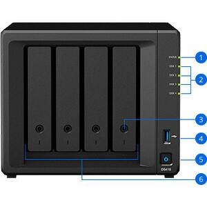 Synology DiskStation DS418 4 x Total Bays SAN/NAS Storage System - Realtek Quad-core (4 Core) 1.40 GHz - 2 GB RAM - DDR4 S