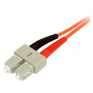 2m Fiber Optic Cable - Multimode Duplex 50/125 - LSZH - LC/SC - OM2 - LC to SC Fiber Patch Cable (50FIBLCSC2)