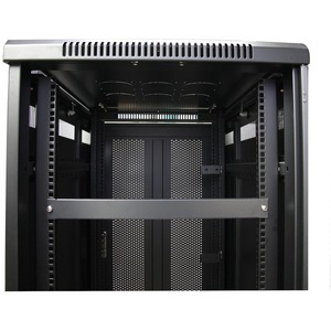 1U Blanking Panel - Metal Rack Mount Filler Panel - for 19in Server Rack Enclosure or Cabinet - Steel - Black (BLANKB1)