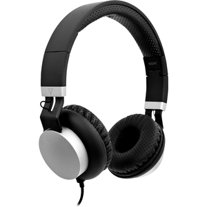 V7 HA601-3EP Wired Over-the-head Stereo Headset - Black, Silver - Binaural - Circumaural - 32 Ohm - 20 Hz to 20 kHz - 180