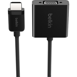 Belkin HDMI TO VGA Adapter - HDMI/USB/VGA/mini-phone A/V Cable for Audio/Video Device, TV, Monitor, Projector - HDMI Digit