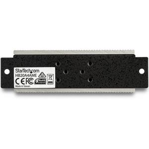 StarTech.com Hub Concentrador Ladrón USB 2.0 de 4 Puertos Industrial - Con protección de 15kV contra Descargas - 4 Total U