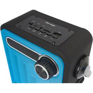 Vorago Bocinas Bsp-200 Bluetooth Recargable Msd/USB/Fm/3.5Mm Azul - 100Hz a 18kHz - Batería Recargable - USB