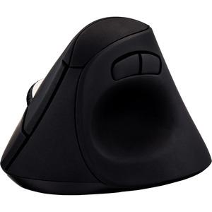 V7 Vertical Ergonomic 6-Button Wireless Optical Mouse - Optical - Wireless - Radio Frequency - Black - USB - 1600 dpi - Sc