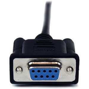 Cable 2m Modem Nulo Null Serial DB9 Hembra a Macho - Negro