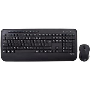 V7 CKW300DE Keyboard & Mouse - Wireless RF 2.40 GHz - German Wireless RF - 1600 dpi - 6 Button - QWERTZ - Internet Key, My