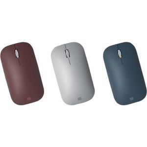 Microsoft Surface Mobile Mouse - Bluetooth - BlueTrack - 4 Button(s) - Platinum - Wireless - 2.40 GHz - Scroll Wheel