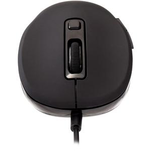 V7 MU300 Mouse - USB - 6 Button(s) - Black - Cable - 1600 dpi - Symmetrical