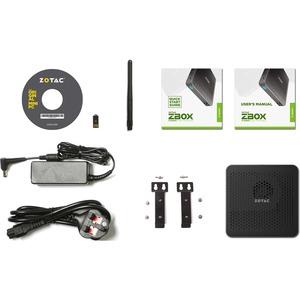 Zotac ZBOX M ZBOX-MI623-BE Desktop Computer - Intel Core i3 10th Gen i3-10110U 2.10 GHz DDR4 SDRAM - Mini PC - Intel UHD G