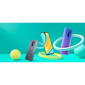 "Redmi 9 64 GB Smartphone - 16.6 cm (6.5"") LCD Full HD Plus 2340 x 1080 - 4 GB RAM - Android 10 - 4G - Sunset Purple - Bar"
