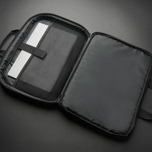 "Borsa ecofriendly 16"" frontload professionale nera tasca RFID"