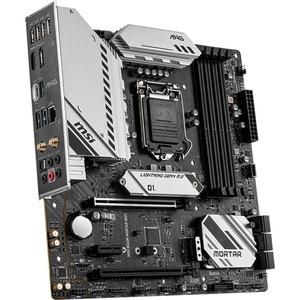 MSI MAG B560M MORTAR WIFI Desktop Motherboard - Intel Chipset - Socket LGA-1200 - Intel Optane Memory Ready - Micro ATX -
