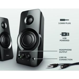 Sistema di altoparlanti Trust Orion 2.0 - 18 W RMS - Nero - 20 Hz a 20 kHz - USB
