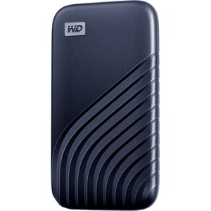 WD My Passport WDBAGF0010BBL-WESN 1 TB Portable Solid State Drive - External - Midnight Blue - Desktop PC Device Supported