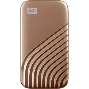 WD My Passport WDBAGF0010BGD-WESN 1 TB Portable Solid State Drive - External - Gold - USB 3.2 (Gen 2) Type C - 1050 MB/s M