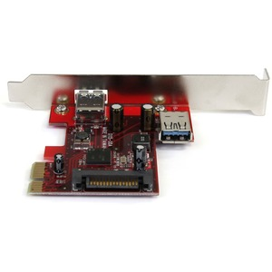 StarTech.com 2 port PCI Express SuperSpeed USB 3.0 Card with UASP Support - 1 Internal 1 External - Add one internal and o