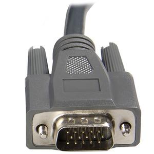 StarTech.com Cable KVM Ultra Thin Delgado de 3m VGA USB DB15 2-en-1 para uso en Conmutador Switch KVM - Extremo prinicpal: