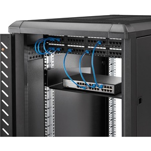 StarTech.com Ripiano universale standard per armadio server a rack di colore nero - 20 kg Static/Stationary Weight Capacity