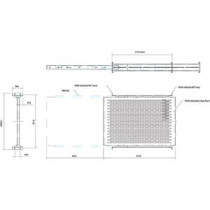 StarTech.com Ripiano scorrevole per montaggio a rack profondità regolabile con fessure 2U - 22.7kg - 22,68 kg Capacità mas