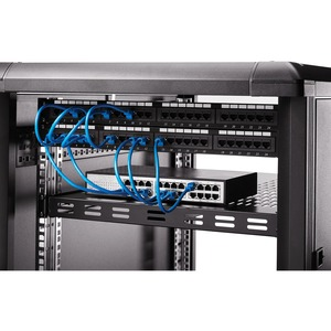 StarTech.com 1U Adjustable Mounting Depth Vented Rack Mount Shelf - Heavy Duty Fixed Server Rack Cabinet Shelf - 250lbs /